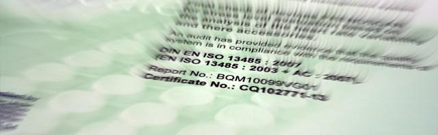 Zertifiziert nach DIN13485